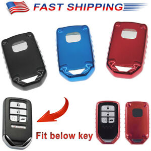 1pc Tpu Key Fob Cover For 2016 2017 2018 Honda Accord Civic Pilot Odyssey Crv Us