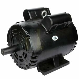 Air Compressor Electric Motor 3 Hp 184t 1750 Rpm 1 Phase 208 230 Volt Odp 60 Hz