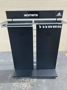Adidas Black And Silver Retail Store Fixture With Wheels And Accessories
