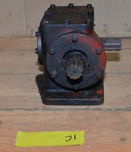 Heavy Duty Right Angle Gearbox Logging Mining Tool 46782 Vintage Winch Hoist J1