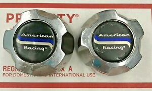American Racing Used Custom Chrome Wheel Center Cap Qty 2