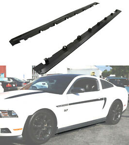 Fits 10 14 Ford Mustang New Roush Style Side Skirts Bodykits 2pc Unpainted Black