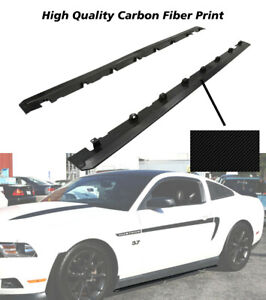 Fits 10 14 Ford Mustang New Roush Style Side Skirts Bodykits 2pc Carbon Look