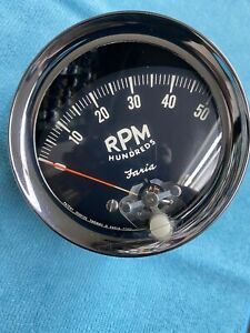 1960 s Vintage faria 5k Rpm Tachometer 5000 Rpm W Curved Glass Face