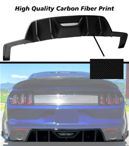 Fits 15 17 Ford Mustang Hn Hpe700 750 Rear Bumper Lip Diffuser Carbon Look