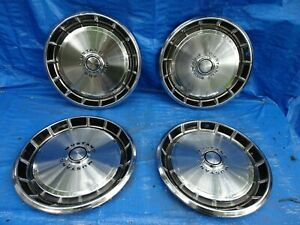 1971 1973 Ford Mustang 14 Vintage Hubcaps Wheel Covers Set Of 4 a