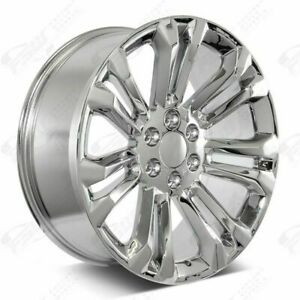 22 Lt 1500 Style Chrome Wheels Fits Chevy Gmc Tahoe Denali Yukon Rims Set 4