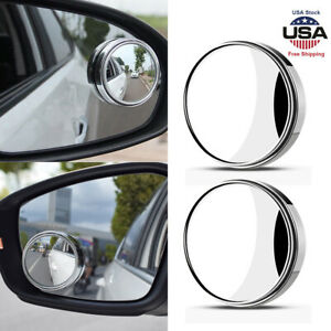 Car Blind Spot Side View Rearview Mirror Convex Round Stick On Latest Wide Angle