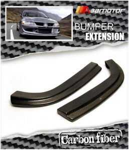 Carbon Fiber Rear Bumper Extensions Fit For Usdm Mitsubishi Evo 8 9 Bumpers Only