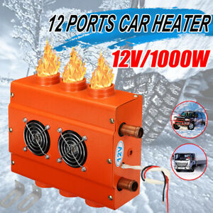 12v 6 Ports Car Universal Under Dash Heater Heat Defroster Demister W