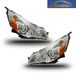 1 Pair Headlight Assembly Signal Lights For 2010 2014 Subaru Legacy Outback