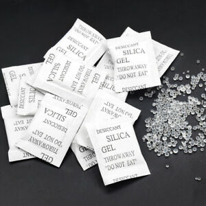 25 50 100 Non toxic Silica Gel Desiccant Damp Dehumidifier Clothes Food Storage