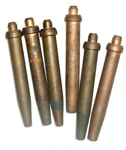 Lot Of 6 Purox Welding Cutting Torches Handle Tip Acetylene Brazing 4 7 9
