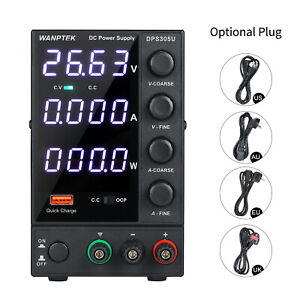 Lcd Digital Dc Power Supply 4digit Variable Adjustable Lab Test Equipment T8a0