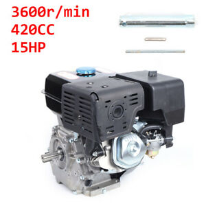 4 Stroke 15hp Ohv 420cc Gas Engine Go Kart Motor Air Cooling Recoil Pull Start