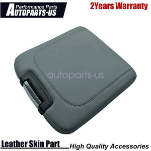 Console Lid Armrest Cover Bench Jump Seat Pvc Leather For Dodge Ram 13 18 Gray