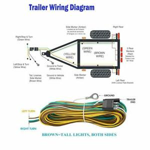 25 4 Pin Flat Trailer Wiring Harness Kit Wishbone Style For Trailer Tail Lights
