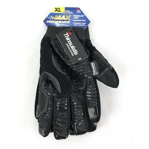 Max Performance Work Gloves Xl Lined Superior Grip 40g Thinsulate Spandex New