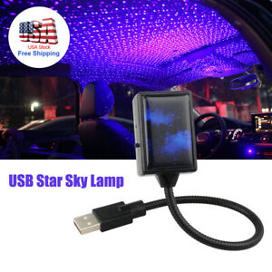 Car Interior Roof Led Star Usb Atmosphere Starry Sky Night Projector Lamp Purple