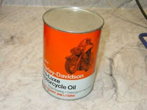 Vintage AMF Harley Davidson Pre-Luxe Full Composite 1 Quart Can