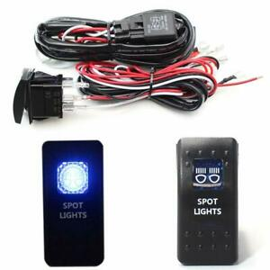 2 Output Relay Wiring Harness W Led Spot Lights Led Light Switch For Fog Lamp