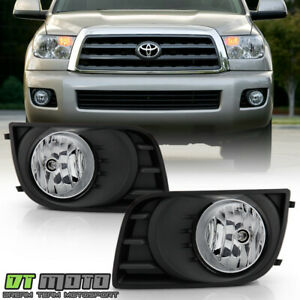 For 2008 2017 Toyota Sequoia Bumper Fog Lights Driving Lamps W switch Full Kit
