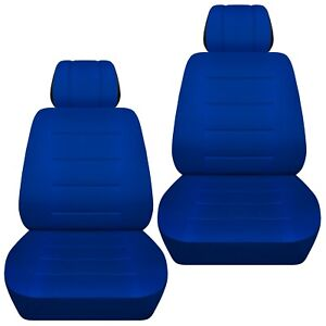 Front Set Car Seat Covers Fits 1997 2020 Toyota Camry Solid Dark Blue