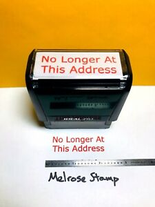 No Longer At This Address Rubber Stamp Red Ink Ideal 4913