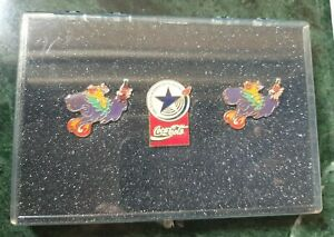 Coca-cola Pin Set of 3 #8936 Paralympic Games Pins in Protective case