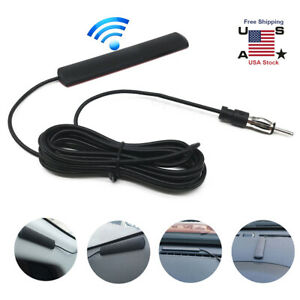 Universal Electronic Auto Car Stereo Antenna Am Fm Radio Hidden Amplified Aerial