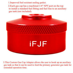 Fit Honda Generator Extended Run Gas Cap Adapter For Eu1000i 1 4 npt