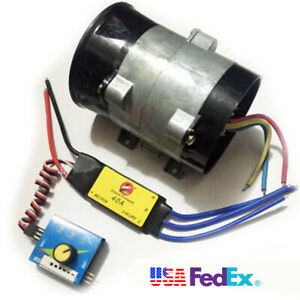Car 12v Electric Turbo Supercharger Air Intake Fan 16 5a Bold Lines With Esc 40a