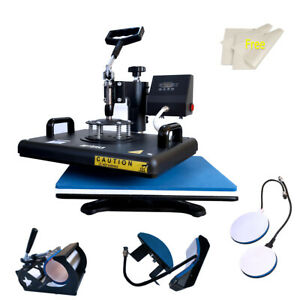 15 x12 Heat Press Machine Digital Transfer Sublimation Diy Gift T shirt Mug Hat