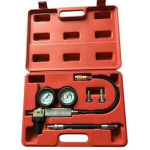 Engine Compression Leakage Leakdown Detector Cylinder Leak Tester Tool Kit Set