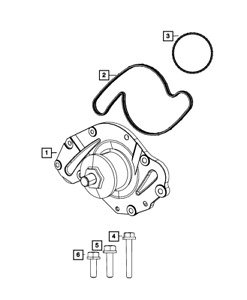 Genuine Mopar Water Pump 4792968af