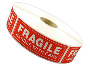 45 Rolls 45000 1 X 3 Fragile Handle With Care Stickers Labels