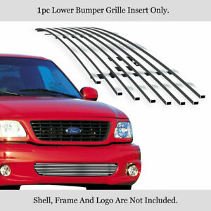 Fits 1999 2003 Ford F 150 Lightning Lower Bumper Stainless Chrome Billet Grille