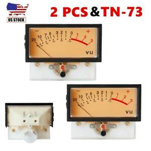2 X Tn 73 Vu Meters High Precision Vu Panel Meter Header Db Meter Level Audio Us