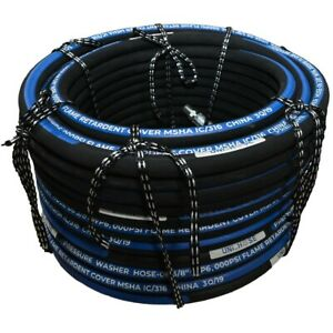 Unihose Pressure Washer Hose 4000psi 1 2 100 Feet Npt Swivel And Npt Rigid End