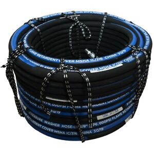 Unihose Pressure Washer Hose 6000psi 1 2 100 Feet Npt Swivel And Npt Rigid End