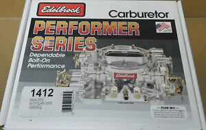 Edelbrock 1412 Performer Series Carb 800cfm Air Valve Sec Manual Choke