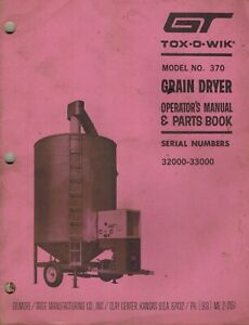 Gt Tox o wik 370 Grain Dryer Operator s Manual