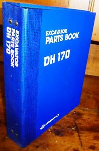 Daewoo Dh 170 Excavator Parts Manual W binder new
