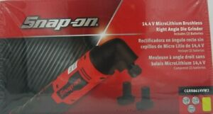 New Snap on Lithium Ion Cgrr861hvk2 14 4v Brushless Right Angle Die Grinder Kit