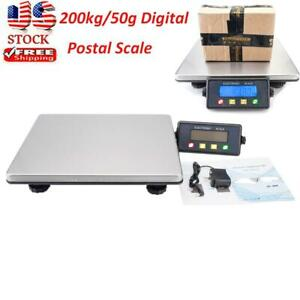 440lb Postal Scale Digital Shipping Electronic Mail Packages Capacity 200kg 50g