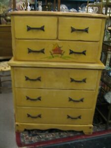 Fabulous Calif Monterey Branded 6 Drawer Chest Of Drawers Dresser Ml