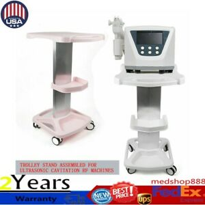 Medical Rolling Cart Beauty Shelf Trolley Stand 4wheel Healthcare Aluminum Tool