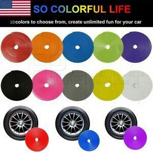 8m Car Wheel Hub Rim Edge Protector Ring Tire Guard Sticker Line Rubber Strip Us