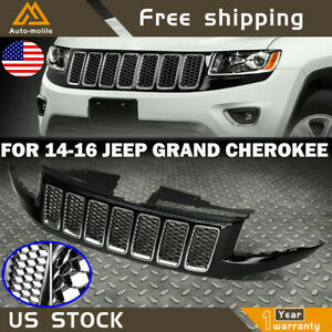 Front Bumper Grille For 2014 2016 Jeep Grand Cherokee Srt8 Style Honeycomb Mesh