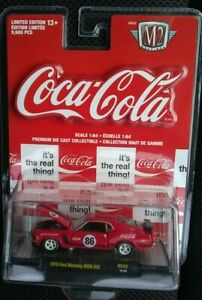 Coca Cola 1970 Ford Mustang BOSS 302 M2 Machines 1:64 RC02 18-55 NIP VHTF